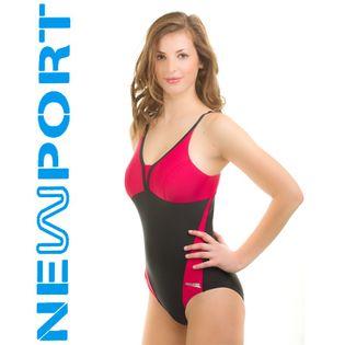 Kostium pływacki LUCY Rozmiar - Stroje damskie - 40(L), Kolor - Stroje damskie - Lucy - 16 - czarny / czerwony