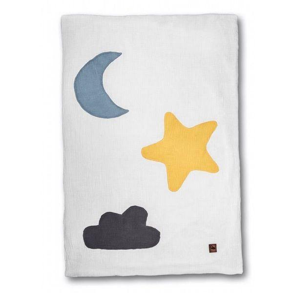 Hi Little One - Kołderka do łóżeczka z oddychającej BIO bawełny organicznej GOTS Day & Night White na Arena.pl