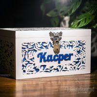 Duże Pudełko z Imieniem na PREZENT CHRZEST URODZINY
