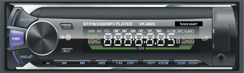 Radio samochodowe VK-8605  Voice Kraft Bluetooth na Arena.pl