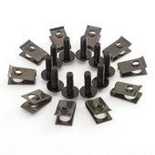 Spinki do owiewek M5, Kołki montażowe 5mm, Blaszki, Śruba, blaszka,