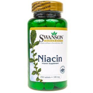 Swanson Niacyna (Witamina B3) 100mg - 250 tabletek