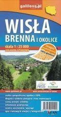 Mapa wodoodporna - Wisła i Brenna i okolice praca zbiorowa