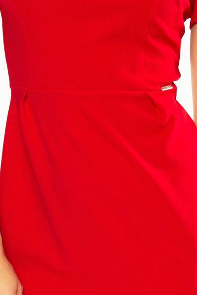 150-2 Sukienka DOROTA - elegancka - CZERWONA Rozmiar - XL zdjęcie 5
