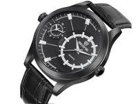 Zegarek Skone, japoński mechanizm kwarcowy, dwa czasy, nowy, pasek
