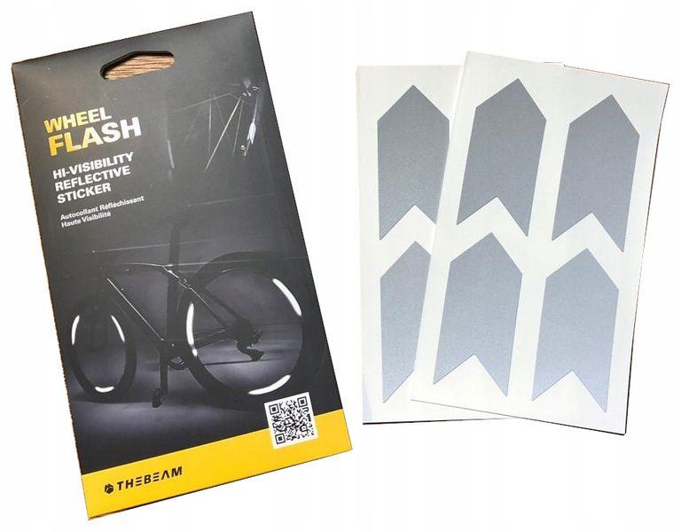 Wheel Flash Odblaskowe Naklejki Na Koła 8Szt zdjęcie 1