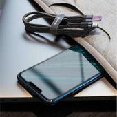 Baseus Cafule kabel przewód USB Typ C SuperCharge 40W Quick Charge 3.0 QC 3.0 1m szaro-czarny (CATKLF-PG1) zdjęcie 3
