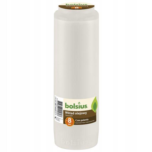 Wkład do zniczy olejowy Bolsius 8 dni (wys.21,5 cm) x 15 sztuk zdjęcie 2