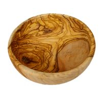 Misa głęboka okrągła z drewna oliwnego - oliwkowego