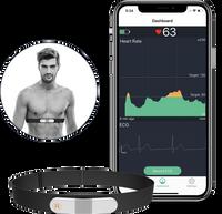 Pas piersiowy EKG, Wibracja, App