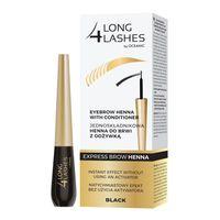 Long4Lashes Express Brow Henna Jednoskładnikowa Henna Do Brwi Z Odżywką Black 6Ml