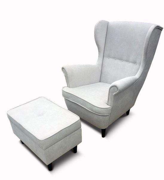 Fotel Uszak CHRIS  z podnóżkiem otwieranym zdjęcie 8