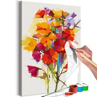Obraz do samodzielnego malowania - Kwiaty lata