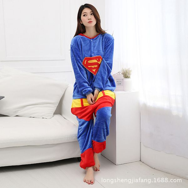 PIŻAMA KIGURUMI ONESIE KOMBINEZON SUPERMAN M zdjęcie 3