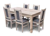 Stół i krzesła  jadalnia, kuchania, krzesło, dąb sanremo, jasne