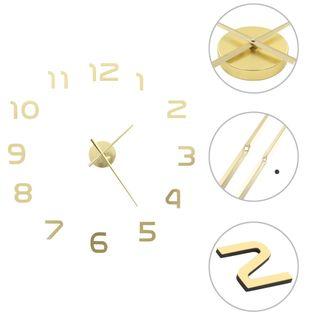 Zegar ścienny 3D, nowoczesny design, 100 cm, XXL, złoty GXP-676007