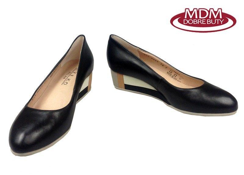 4db0988d Czółenka RYŁKO 5I200 czarny Rozmiar obuwia - 39,5, Kolor - Czarny zdjęcie 2