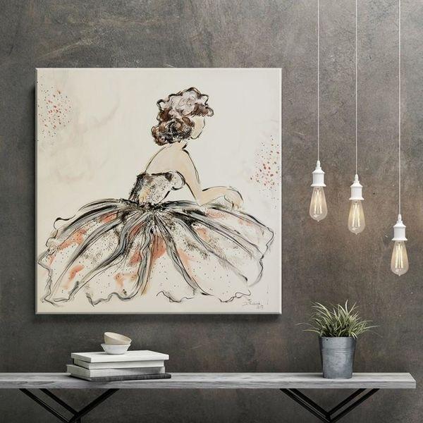 Obraz na płótnie - Canvas, Kobieta retro 60x60 zdjęcie 5