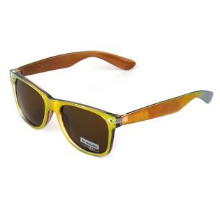 Okulary przeciwsłoneczne Wayfarer brązowe złoto