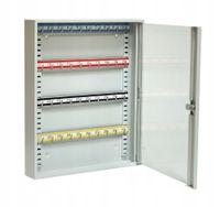 Metalowa szafka na klucze wisząca z szybką SKR 40/S (40 haczyków)