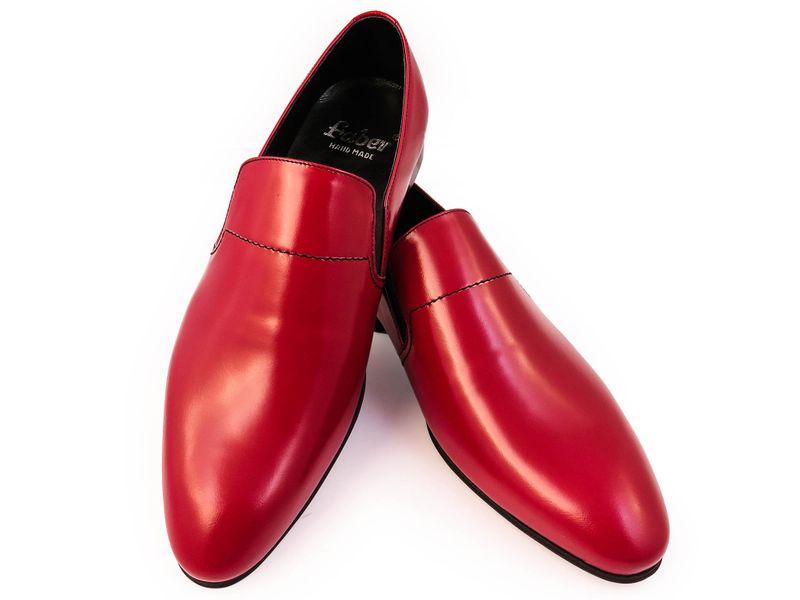 Czerwone wsuwane buty męskie F42 Rozmiar Obuwia - 40 zdjęcie 2