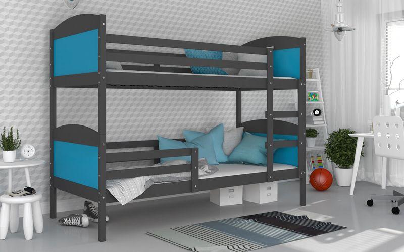 Łóżko piętrowe MATEUSZ COLOR bez szuflady 190x80 + materace zdjęcie 5