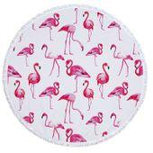 RĘCZNIK PLAŻOWY OKRĄGŁY Flamingi Koc Piknik Koło