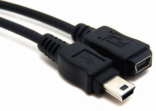 KABEL PRZEDŁUŻACZ MINIUSB NA MINI USB 0,5M na Arena.pl