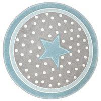 Dywan Diamond GWIAZDA 91788 szaro-niebieski koło 120x120cm