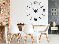 DUŻY Naklejany Zegar Ścienny Z981 - 60-100 cm XXL