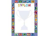 Dyplom Szkolny Sportowy w Formacie A4 wyróżnienie nagroda