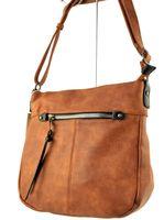 Listonoszka torebka miękka torba damska worek ruda