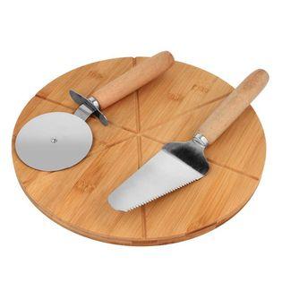 Deska Szpatułka Nóż Do Porcjowania Podawania Pizzy 1574