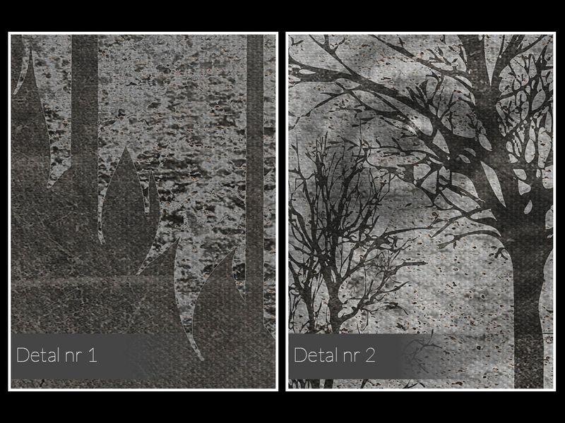 24901 Obraz na płótnie WILK LAS SKANDYNAWSKI SZARY zdjęcie 5