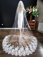welon ślubny długi ivory 3m katedralny koronka PL