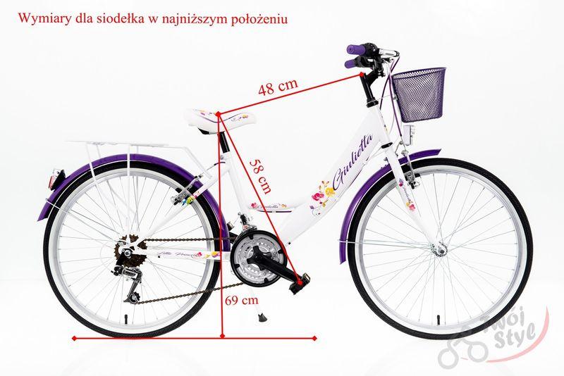 Rower Kands Giulietta BIAŁO-FIOLETOWA 2020r na Arena.pl