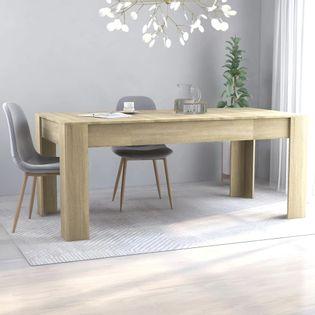 Stół jadalniany, kolor dąb sonoma, 180x90x76 cm, płyta wiórowa
