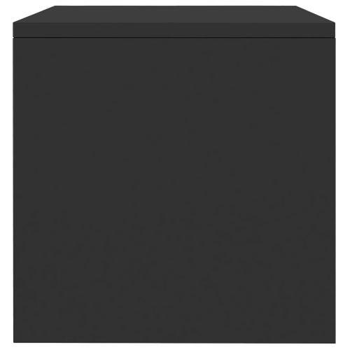 Szafka nocna czarna wysoki połysk 40x30x30cm płyta wiórowa VidaXL na Arena.pl