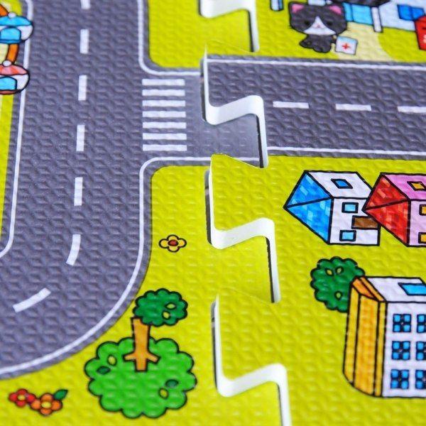 Duże puzzle piankowe mata dla dzieci ulica zdjęcie 5