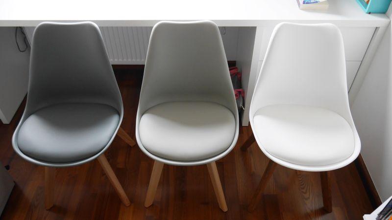 Nowoczesne krzesło JASNOSZARE/BUK skandynawskie DSW RETRO KRIS LUGANO zdjęcie 4