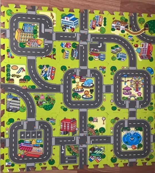 Duże puzzle piankowe mata dla dzieci ulica zdjęcie 2