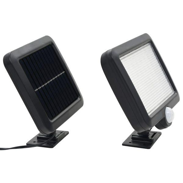 Lampa solarna z czujnikiem ruchu, białe LED zdjęcie 2