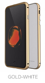 Etui Luphie Glass Bumper Apple iPhone 7 Plus-Gold-White