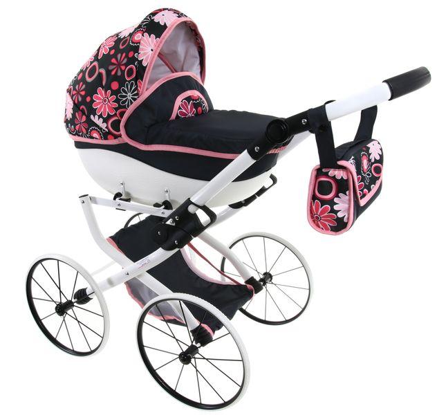 DUŻY Solidny POLSKI Wózek dla lalek lalkowy RETRO Metalowe koła zdjęcie 6