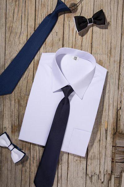 Biała koszula chłopięca, krótki rękaw 164 zdjęcie 2