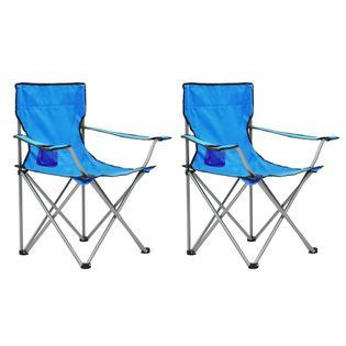 Lumarko Stolik i krzesła turystyczne, 3 elementy, niebieskie!