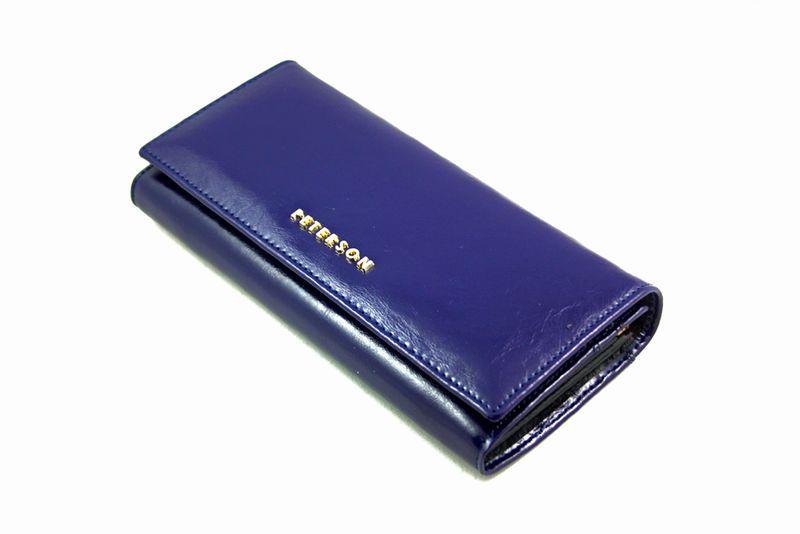 Duży granatowy portfel damski, RFID, Peterson zdjęcie 4