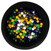 Czarny suchy basen z kulkami BLACK+ 200 piłek do wyboru