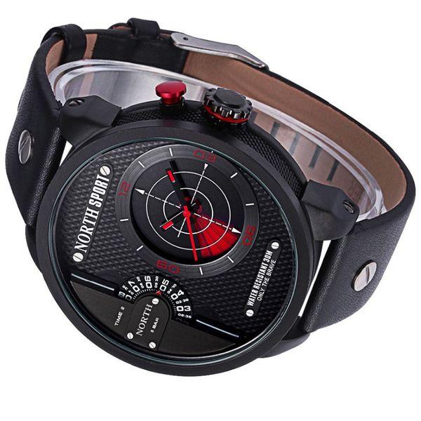 073cf768f5a948 Zegarek męski North 6012 wodoszczelny, 2 czasy, z radarem, pudełeczko  zdjęcie 3