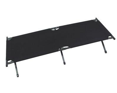 Łóżko polowe w stylu amerykańskim czarne